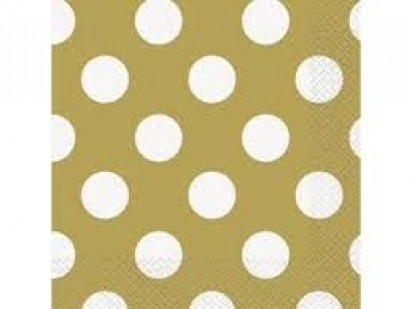 """13"""" Gold Dots Luncheon Napkin (16ct, 2 ply)"""