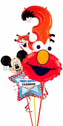 3rd Birthday Elmo Balloon Arrangement
