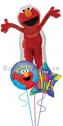 Elmo Birthday Bouquet (Yee Ha) Balloon Arrangement