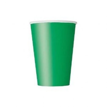 Party Emerald Green Cups (8 cts)