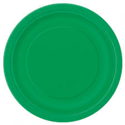 "8"" Emerald Green Normal Party Plates (8ct)"