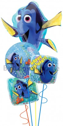 Finding Dory Birthday Balloon Bouquet