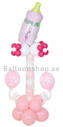 Sweet Baby Girl New Born Balloon Column