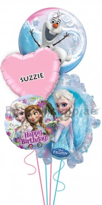 Personalized Disney Frozen Birthday Balloon Arrangement