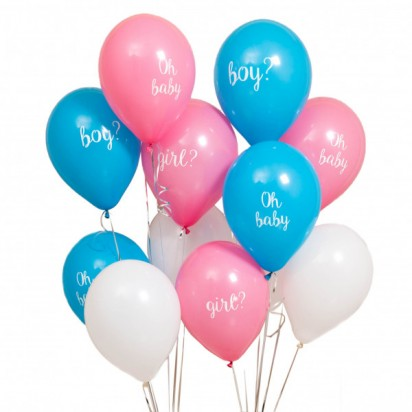 Gender Reveal Party Balloon Bouquet
