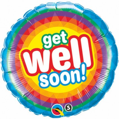 "18"" Get Well Radiant Helium Foil Balloon"