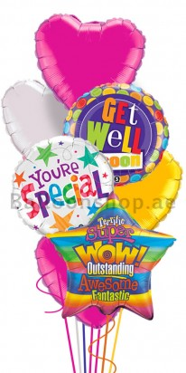 Mega Jumbo Special Get Well Balloon Bouquet