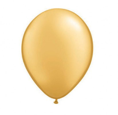 "11"" Gold Helium Plain Latex Balloon"