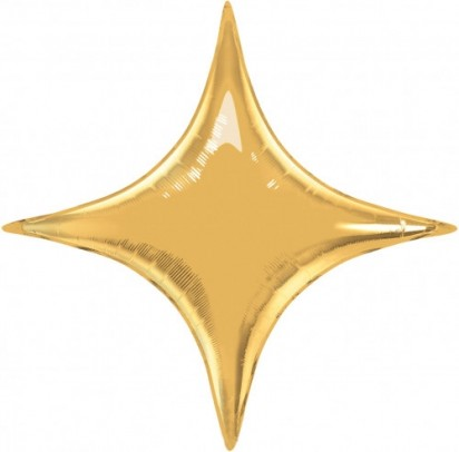 "40"" Gold Star Point Helium Foil Balloon"