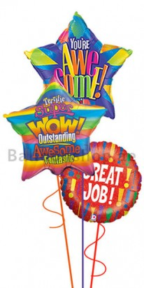 Great Job Wow Foil Balloon Bouquet
