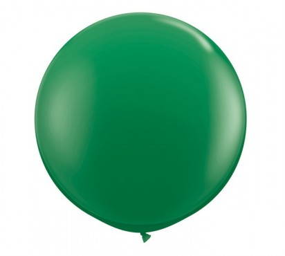 3' Green Large Helium Balloon (90 cm)