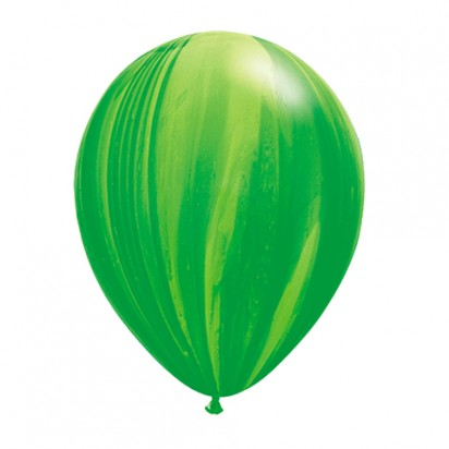 "11"" Green Agate Helium Latex Balloon"
