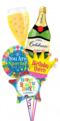 You Are Special Champagne Birthday Balloon Bouquet