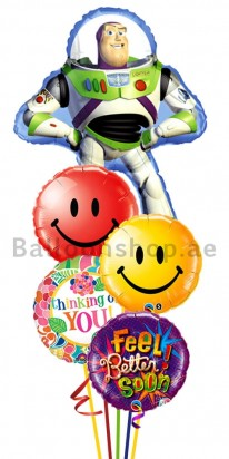 Buzz Light Year Get Well Balloon Bouquet