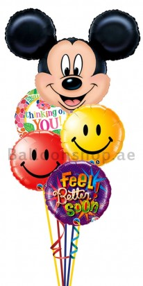 Mickey Mouse Get Well Balloon Bouquet