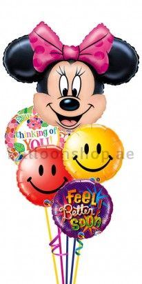Minnie Mouse Get Well Balloon Bouquet