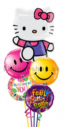 Hello Kitty Get Well Balloon Bouquet