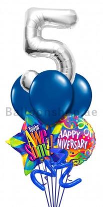 Any Number Happy Anniversary Balloon Bouquet