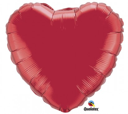 "18"" Ruby Red Heart Helium Foil Balloon"