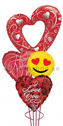 Mega Jumbo Elegant Valentine's Day Balloon Arrangement