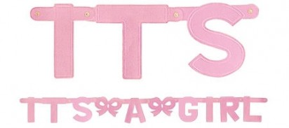 It's A Girl  Letter Banner