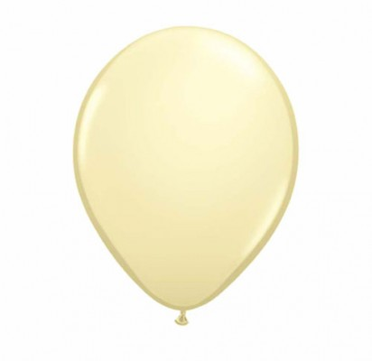 "11"" Ivory Silk Helium Plain Latex Balloon"