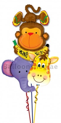 Safari Jungle Get Well Balloon Bouquet