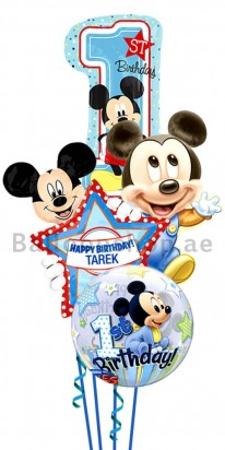 Personalized Mickey Mouse Birthday Blast Balloon Bouquet