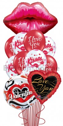 Ultra Jumbo Valentine's Day Kisses Balloon Arrangement