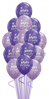 Classical Script Birthday Balloon Bouquet