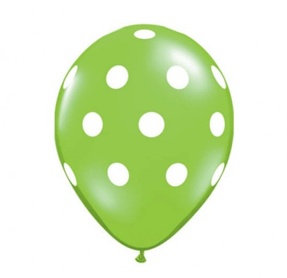 Lime Green Polka (Price Per Balloon)