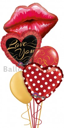 Mega Jumbo Kiss Me Darling, Valentine's Day Balloon Arrangement
