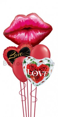Love me darling Valentines Jumbo Balloon Bouquet