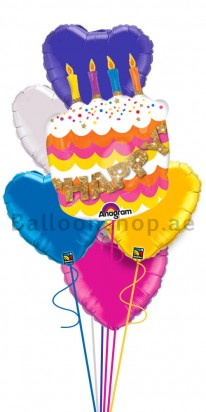 Birthday Charms (Make A Wish) Balloon Arrangement
