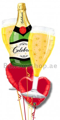 Celebrate Love, Elegance Balloon Arrangement