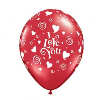 Love Swirling Hearts (Price Per Balloon)