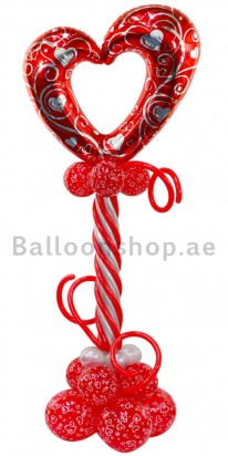 Elegant Lovely Love Balloon Column
