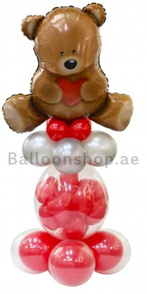 Lovely Bear Love Balloon Arrangement