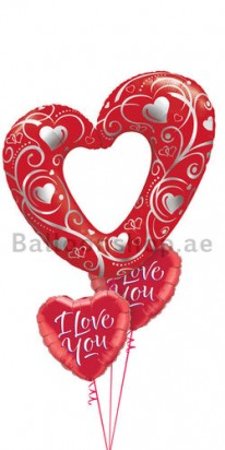 red heart balloons delivery dubai