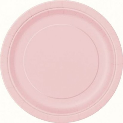 "8"" Lovely Pink Normal Party Plates (20ct)"