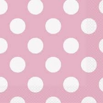 """13"""" Pink Dots Luncheon Napkin (16ct, 2 ply)"""