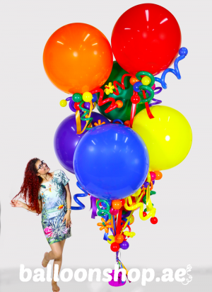 Popping with Color Super Sized Balloon Bouquet