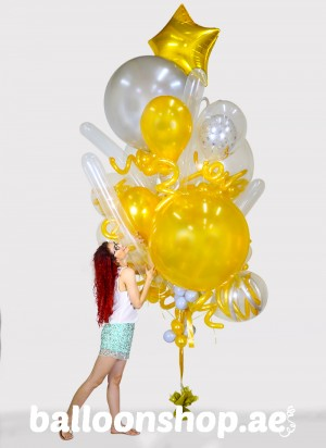 Rich & Gold Super Sized Balloon Bouquet
