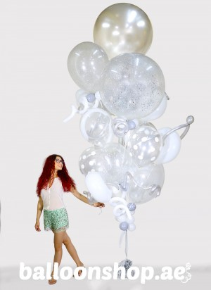 Silver Elegance Super Sized Balloon Bouquet