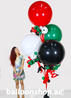 UAE National Day Super Sized Balloon Bouquet
