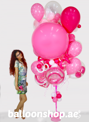 Pretty with Pink Super Sized Balloon Bouquet