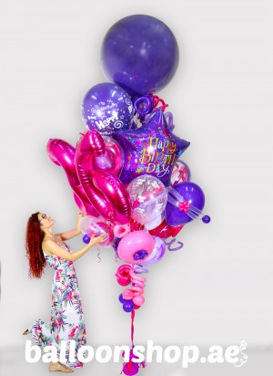 Any Age Madness Super Sized Birthday Balloon Bouquet