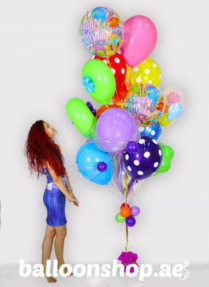 Super Sized Birthday Balloon Bouquet