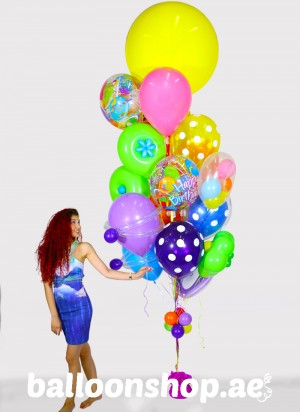 Bubbletastic Birthday Super Sized Balloon Bouquet