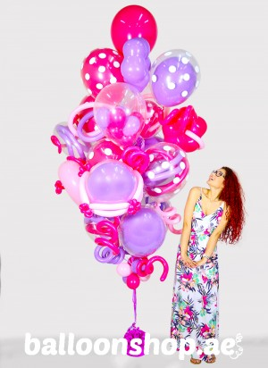 Purple & Pink Super Sized Balloon Bouquet